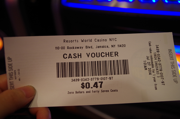 NYのカジノにて