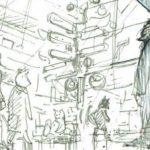 分業時代のマンガ制作~キャラの性格を表す立ち位置や世界観を表す小物の役割